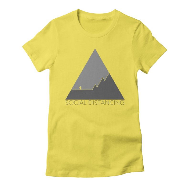 Social Distancing - In Nature - Grey Women's T-Shirt by The Wandering Fools Artist Shop