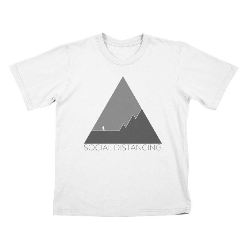 Social Distancing - In Nature - Grey Kids T-Shirt by The Wandering Fools Artist Shop