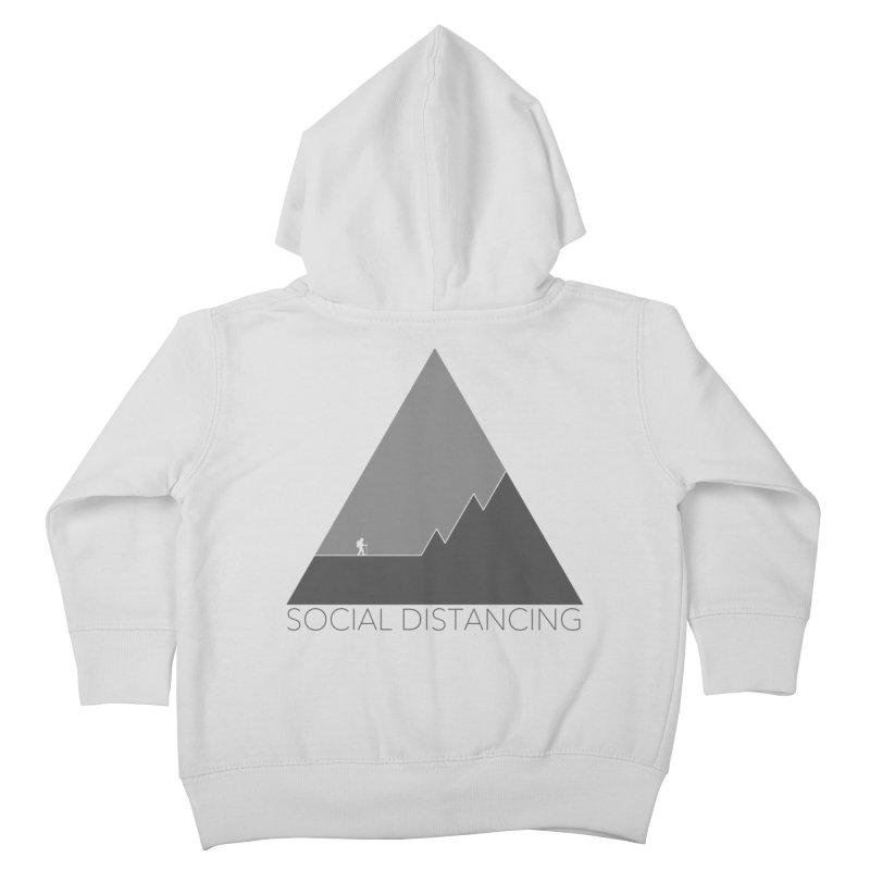 Social Distancing - In Nature - Grey Kids Toddler Zip-Up Hoody by The Wandering Fools Artist Shop