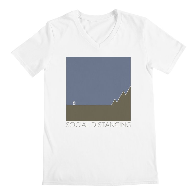 Social Distancing - In Nature Men's V-Neck by The Wandering Fools Artist Shop
