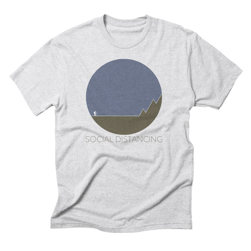 Social Distancing - In Nature in Men's Triblend T-Shirt Heather White by The Wandering Fools