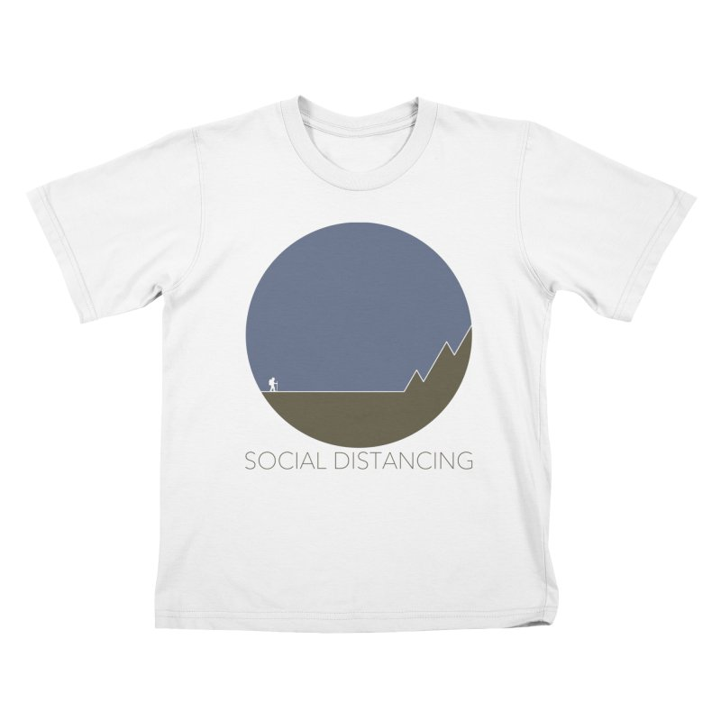 Social Distancing - In Nature Kids T-Shirt by The Wandering Fools Artist Shop