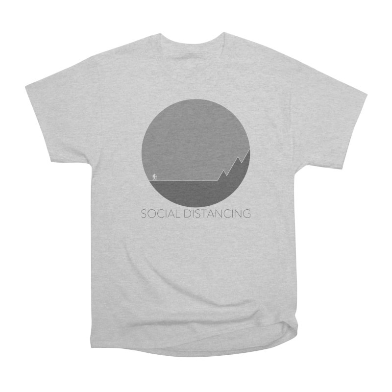 Social Distancing - In Nature - Grey Men's T-Shirt by The Wandering Fools Artist Shop