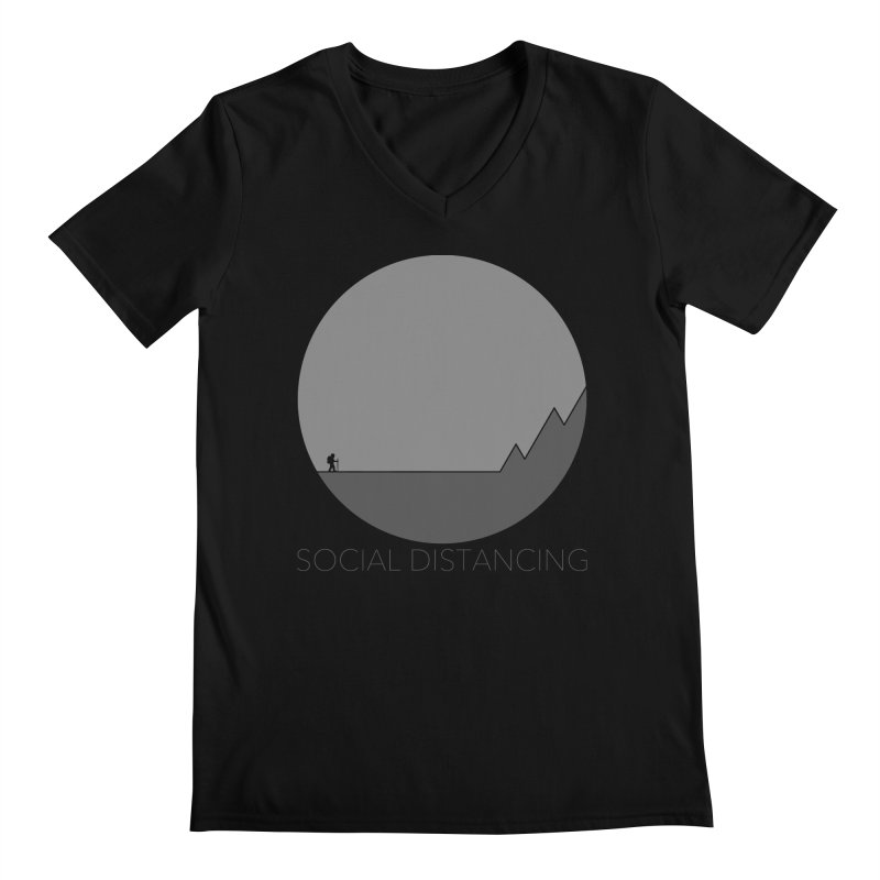 Social Distancing - In Nature - Grey Men's V-Neck by The Wandering Fools Artist Shop