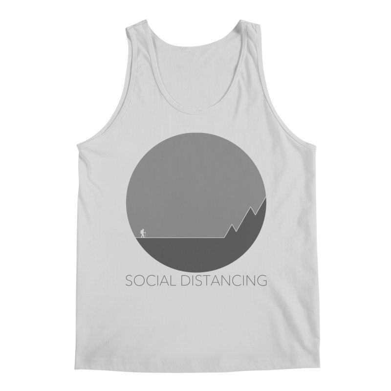 Social Distancing - In Nature - Grey Men's Tank by The Wandering Fools Artist Shop