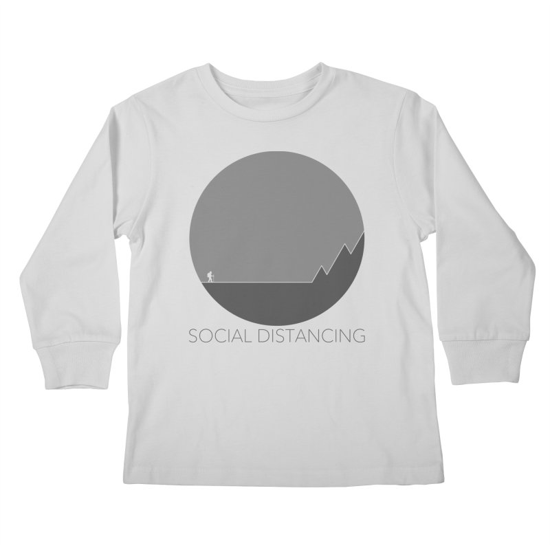 Social Distancing - In Nature - Grey Kids Longsleeve T-Shirt by The Wandering Fools Artist Shop