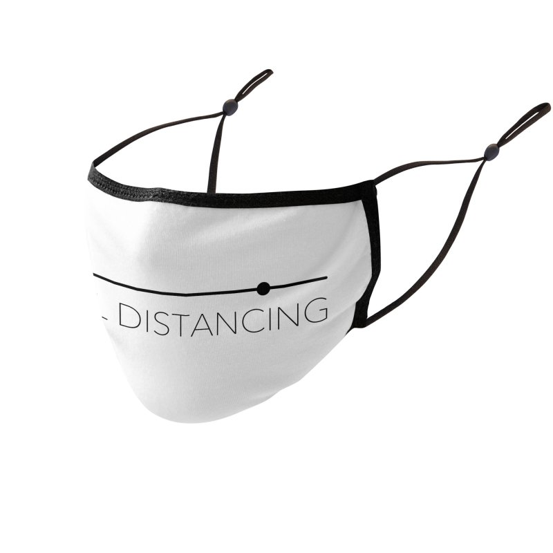 Social Distancing - Black Accessories Face Mask by The Wandering Fools Artist Shop