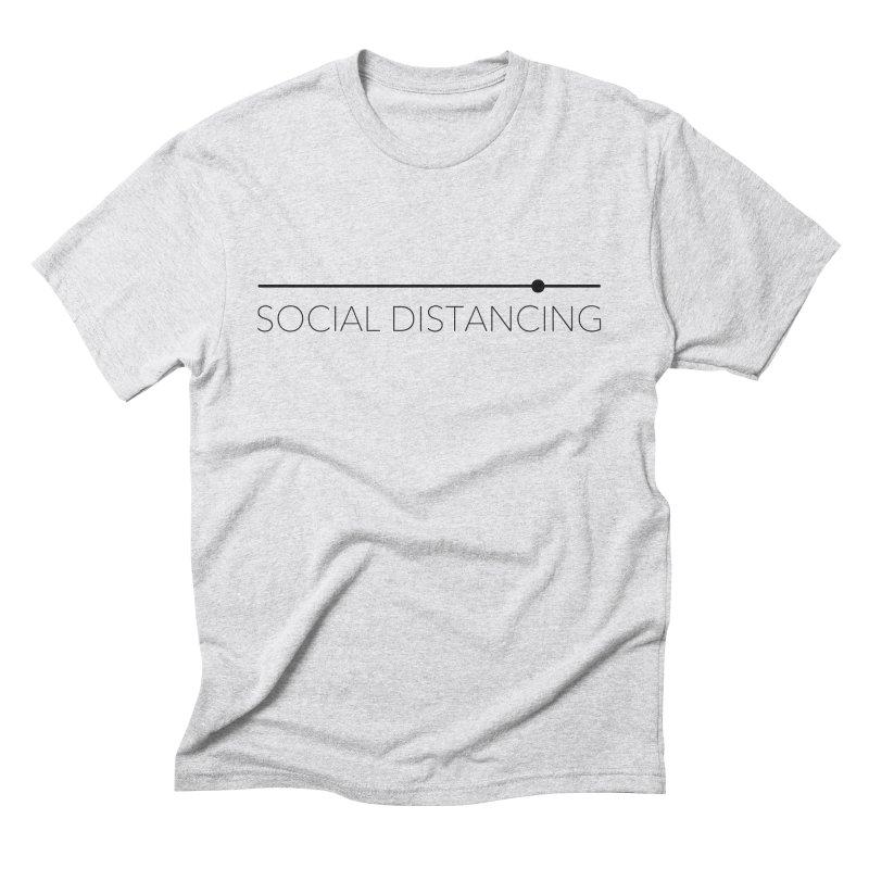 Social Distancing - Black Men's T-Shirt by The Wandering Fools Artist Shop