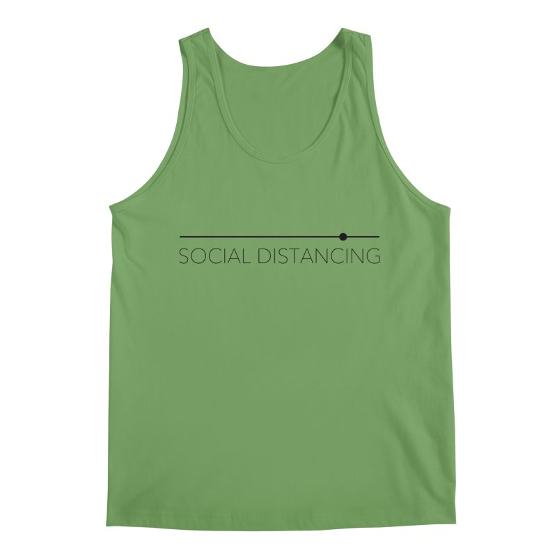 Social Distancing - Black Men's Tank by The Wandering Fools Artist Shop
