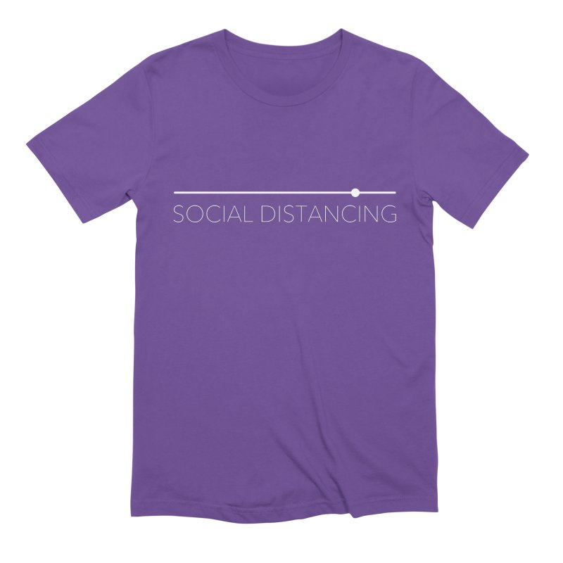 Social Distancing - White Men's T-Shirt by The Wandering Fools Artist Shop
