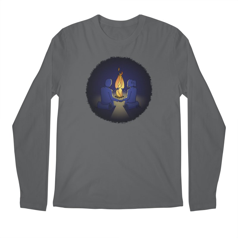 Camping - The Joy of Social Distancing In Nature Men's Longsleeve T-Shirt by The Wandering Fools Artist Shop