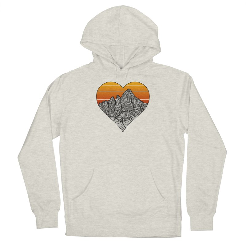 Mountain Sunset/Sky Men's Pullover Hoody by The Wandering Fools Artist Shop