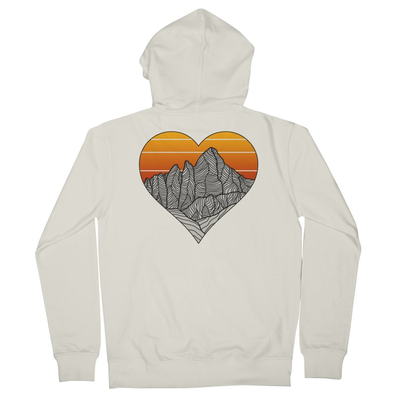 Mountain Sunset/Sky Men's Zip-Up Hoody by The Wandering Fools Artist Shop