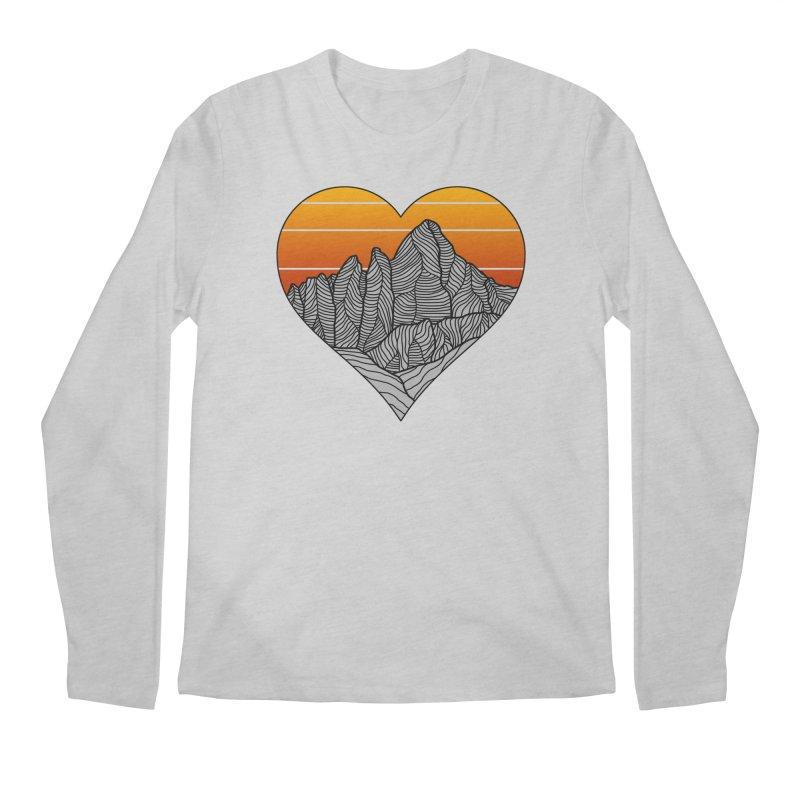 Mountain Sunset/Sky Men's Longsleeve T-Shirt by The Wandering Fools Artist Shop
