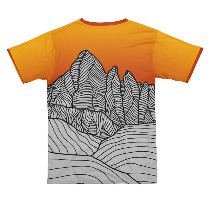 Mountain Sunset/Sky Men's Cut & Sew by The Wandering Fools Artist Shop