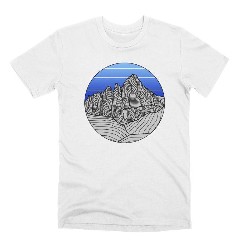 Mountain Sunset/Sky Men's T-Shirt by The Wandering Fools Artist Shop