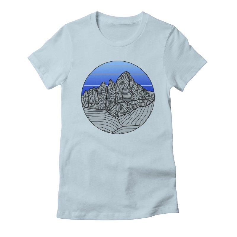 Mountain Sunset/Sky Women's T-Shirt by The Wandering Fools Artist Shop