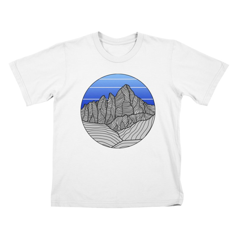 Mountain Sunset/Sky Kids T-Shirt by The Wandering Fools Artist Shop