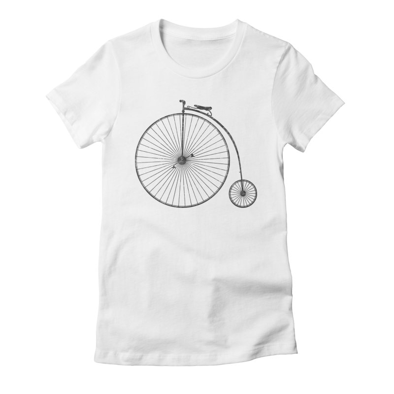 Penny Farthing High Wheel Bicycle Women's T-Shirt by The Wandering Fools Artist Shop