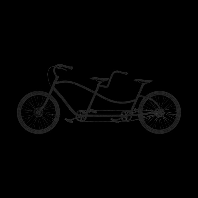Tandem Bicycle Kids T-Shirt by The Wandering Fools Artist Shop