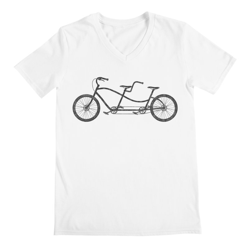 Tandem Bicycle Men's V-Neck by The Wandering Fools Artist Shop