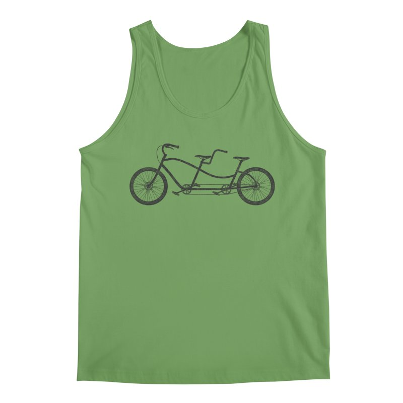Tandem Bicycle Men's Tank by The Wandering Fools Artist Shop