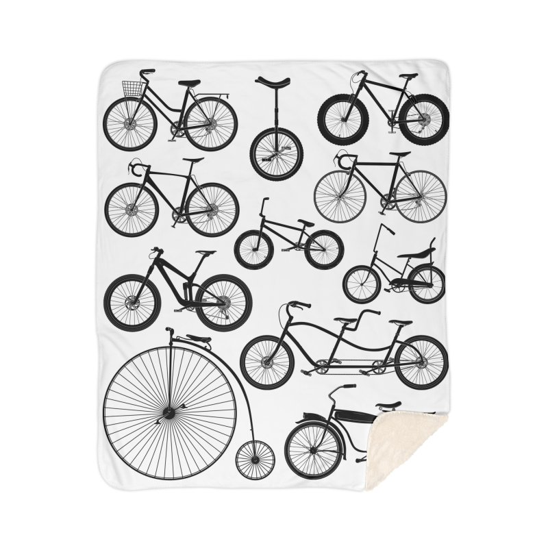Bicycles Galore Home Blanket by The Wandering Fools Artist Shop