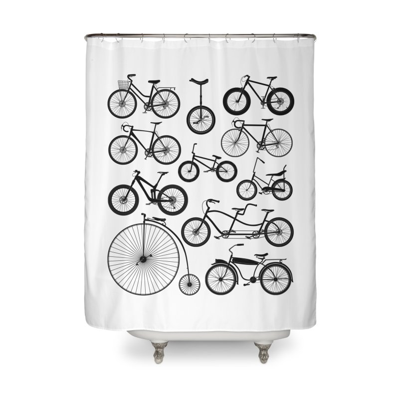 Bicycles Galore Home Shower Curtain by The Wandering Fools Artist Shop