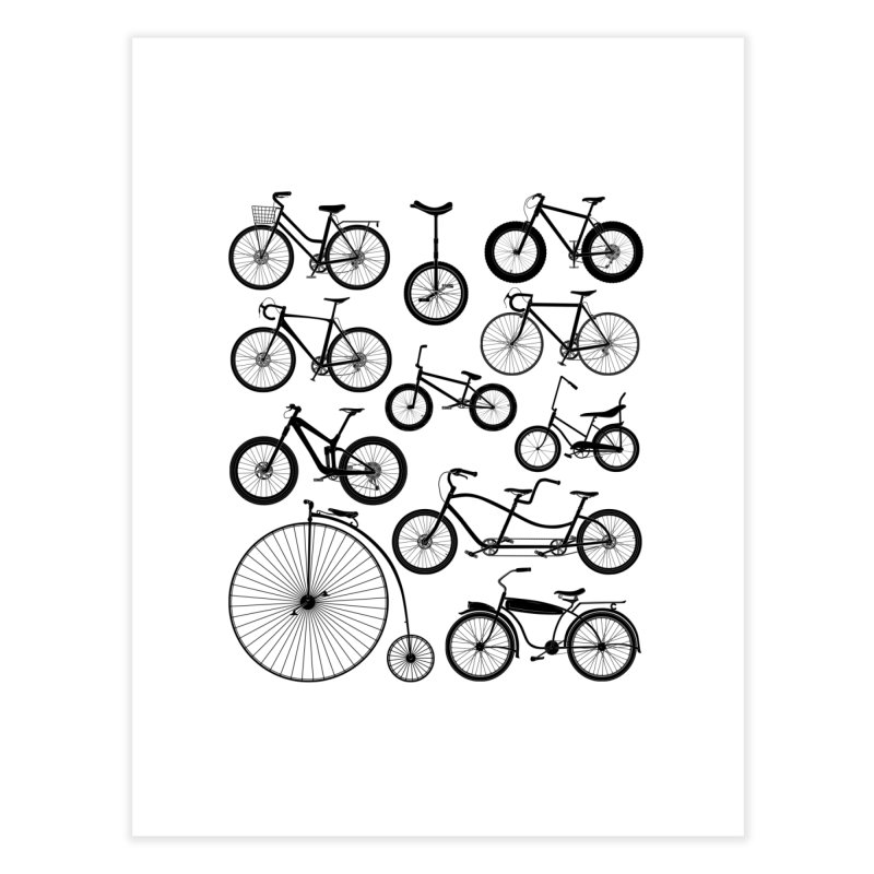 Bicycles Galore Home Fine Art Print by The Wandering Fools Artist Shop