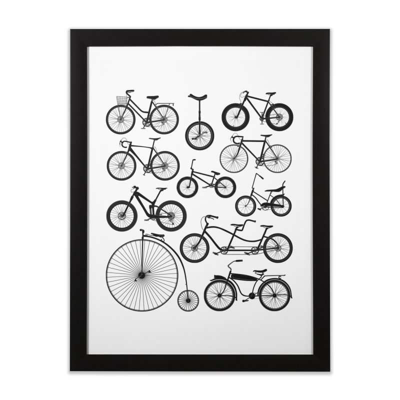 Bicycles Galore Home Framed Fine Art Print by The Wandering Fools Artist Shop
