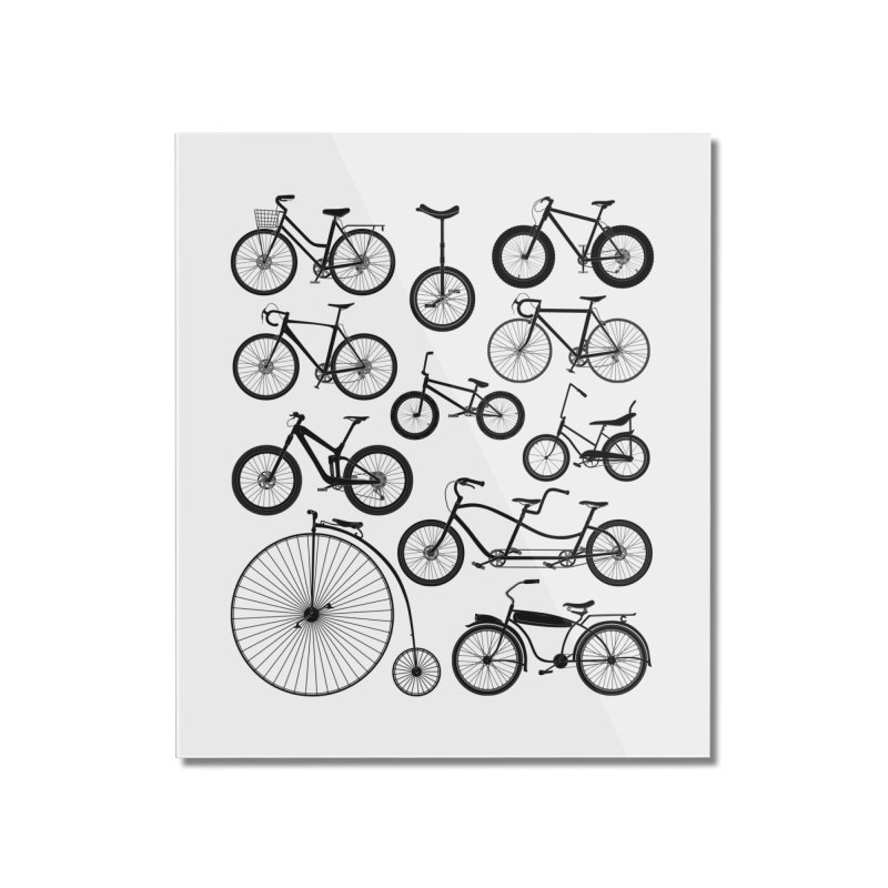 Bicycles Galore Home Mounted Acrylic Print by The Wandering Fools Artist Shop