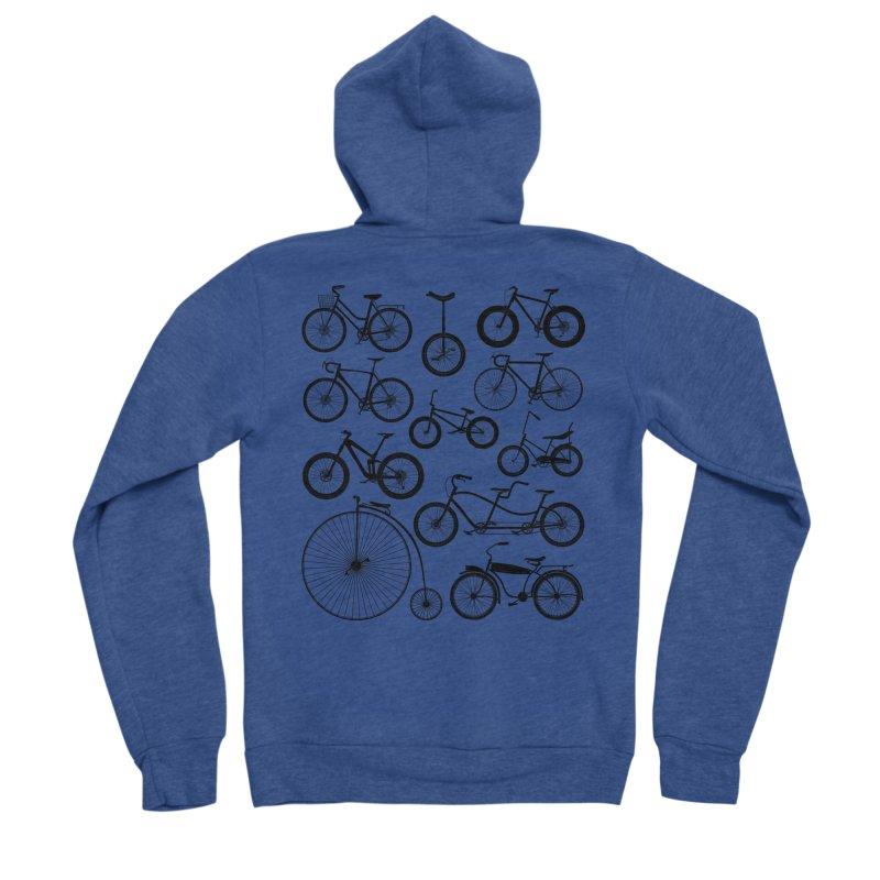 Bicycles Galore Men's Zip-Up Hoody by The Wandering Fools Artist Shop
