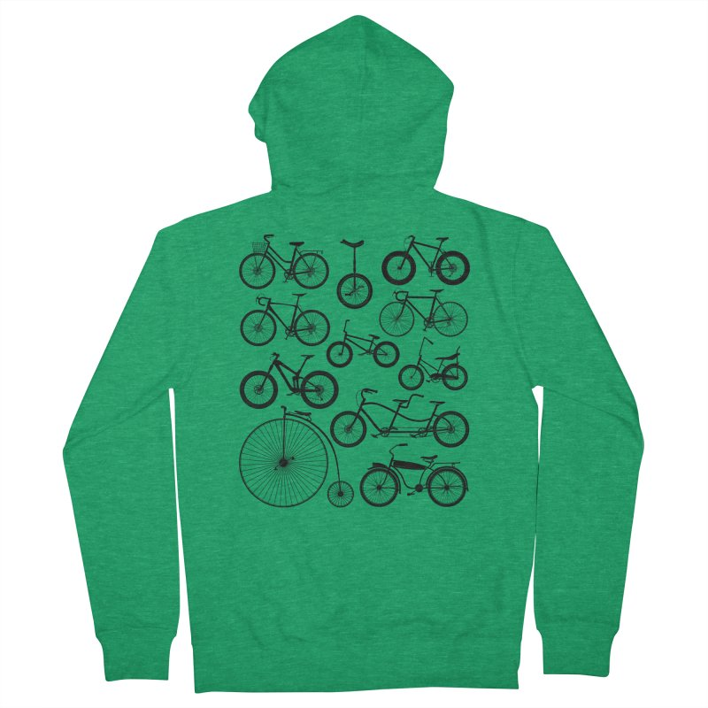 Bicycles Galore Women's Zip-Up Hoody by The Wandering Fools Artist Shop
