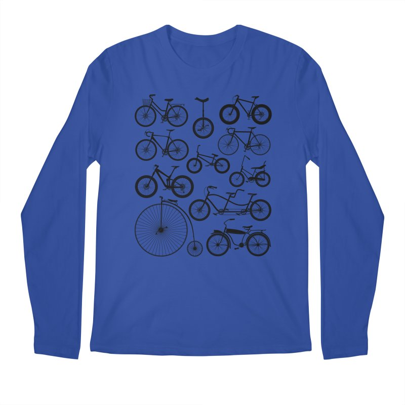 Bicycles Galore Men's Longsleeve T-Shirt by The Wandering Fools Artist Shop