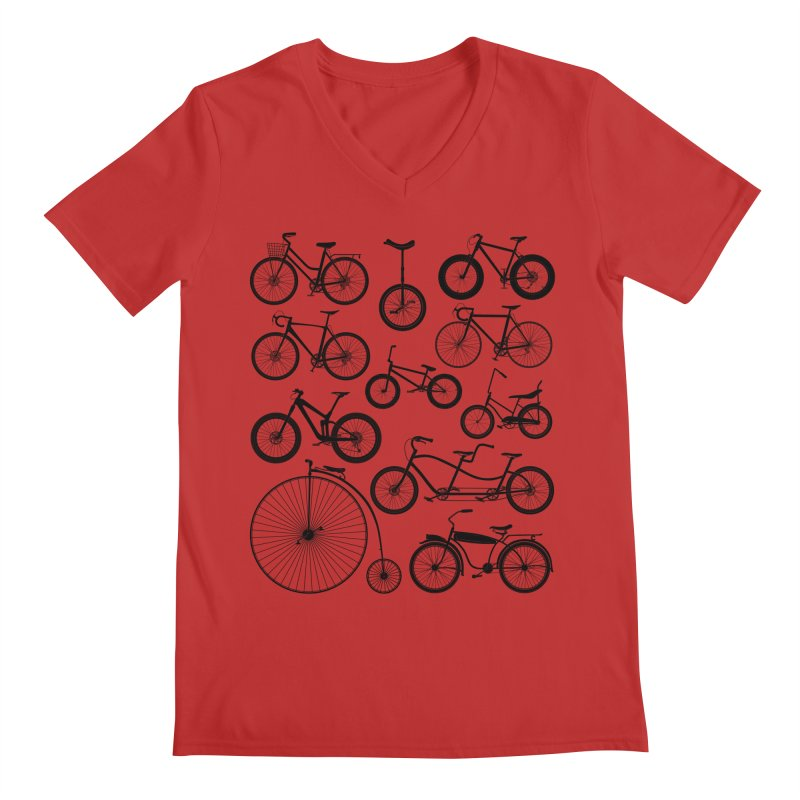 Bicycles Galore Men's V-Neck by The Wandering Fools Artist Shop