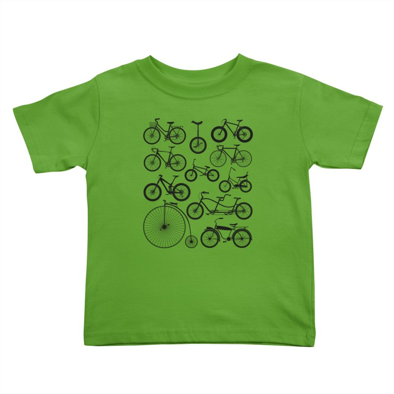 Bicycles Galore Kids Toddler T-Shirt by The Wandering Fools Artist Shop