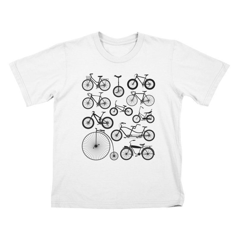 Bicycles Galore Kids T-Shirt by The Wandering Fools Artist Shop