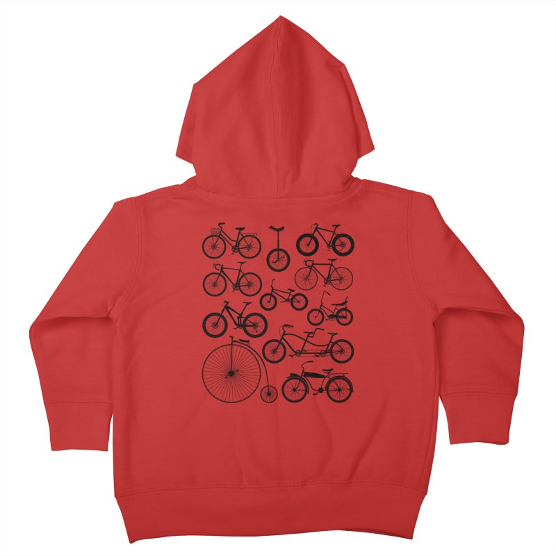 Bicycles Galore Kids Toddler Zip-Up Hoody by The Wandering Fools Artist Shop