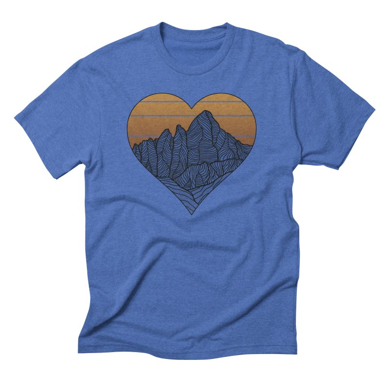 Mountain Sunset/Sky Fall Colors Men's T-Shirt by The Wandering Fools Artist Shop
