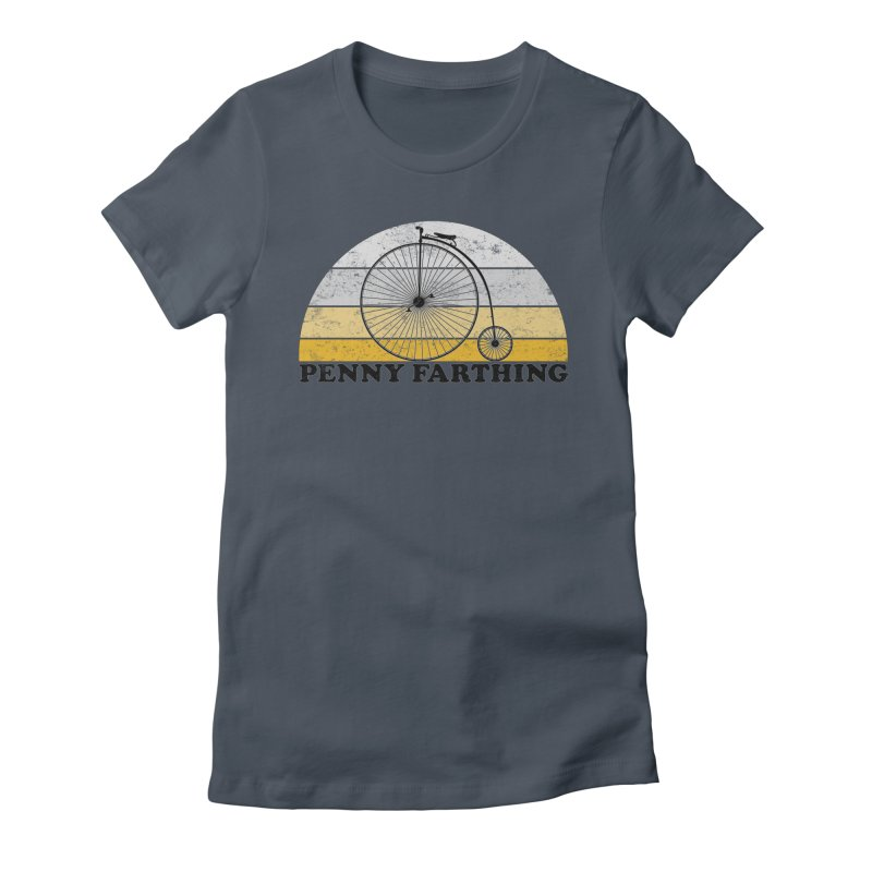 Penny Farthing High Wheel Bicycle Vintage Colors Women's T-Shirt by The Wandering Fools Artist Shop