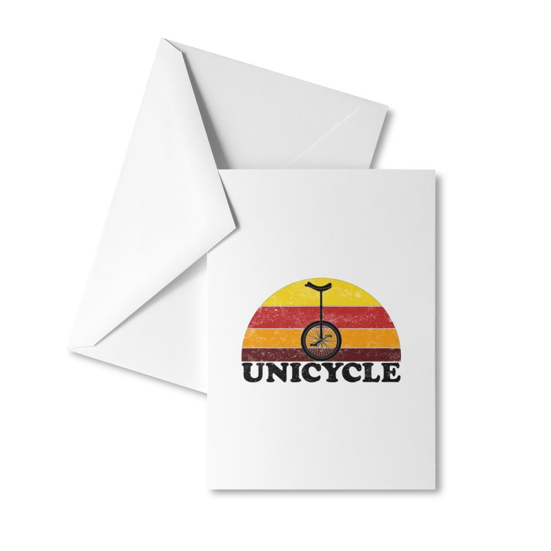 Unicycle Bike Vintage Colors Accessories Greeting Card by The Wandering Fools Artist Shop