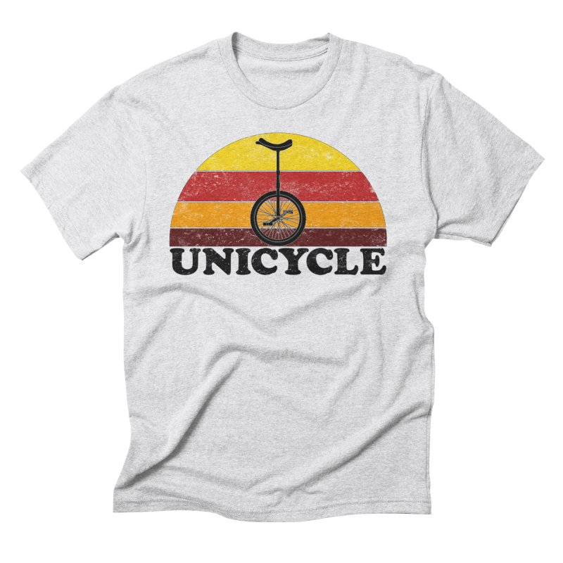 Unicycle Bike Vintage Colors Men's T-Shirt by The Wandering Fools Artist Shop