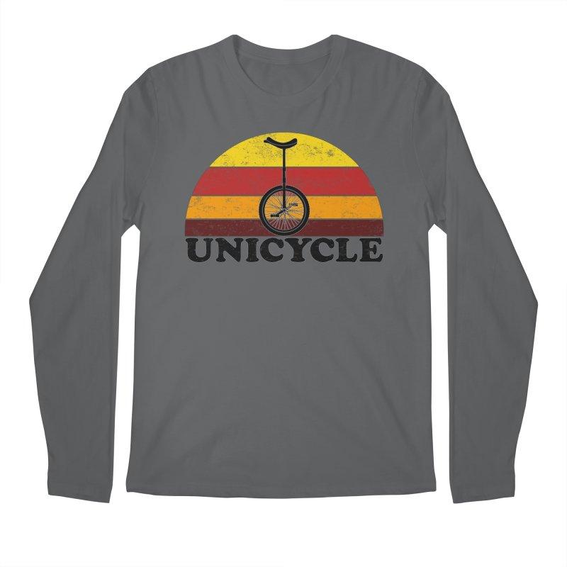 Unicycle Bike Vintage Colors Men's Longsleeve T-Shirt by The Wandering Fools Artist Shop