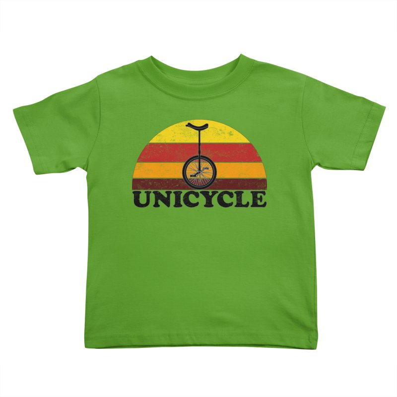 Unicycle Bike Vintage Colors Kids Toddler T-Shirt by The Wandering Fools Artist Shop
