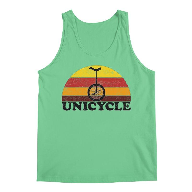 Unicycle Bike Vintage Colors Men's Tank by The Wandering Fools Artist Shop