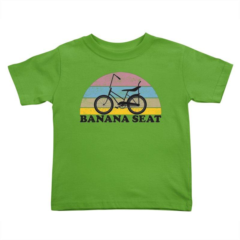 Banana Seat Bike Vintage Colors Kids Toddler T-Shirt by The Wandering Fools Artist Shop
