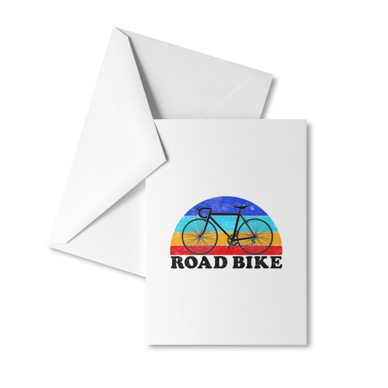 Road Bike Vintage Colors Accessories Greeting Card by The Wandering Fools Artist Shop