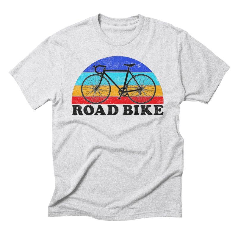 Road Bike Vintage Colors Men's T-Shirt by The Wandering Fools Artist Shop