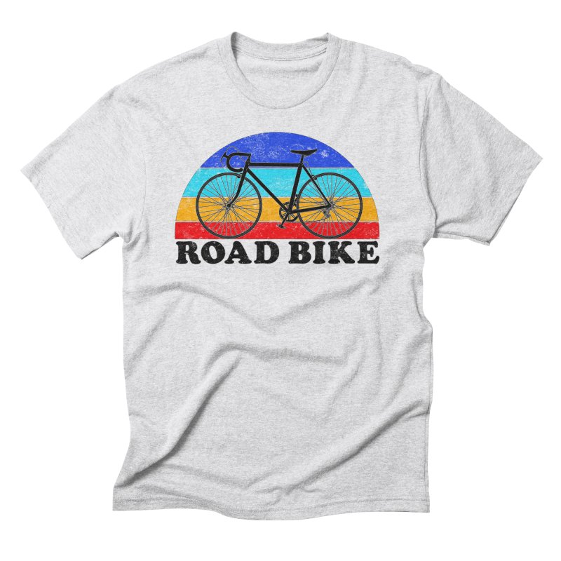 Road Bike Vintage Colors Men's T-Shirt by The Wandering Fools Artist Shop