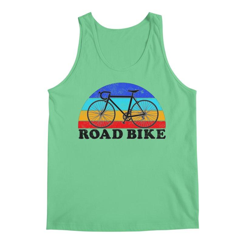 Road Bike Vintage Colors Men's Tank by The Wandering Fools Artist Shop